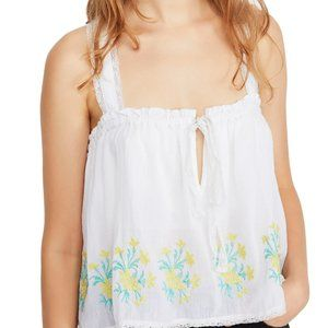 Free People Golden Hour Embroidered Camisole top